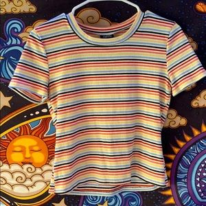 Ribbed Striped Tee! 🌈